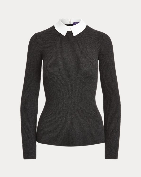 Collared Cashmere Sweater