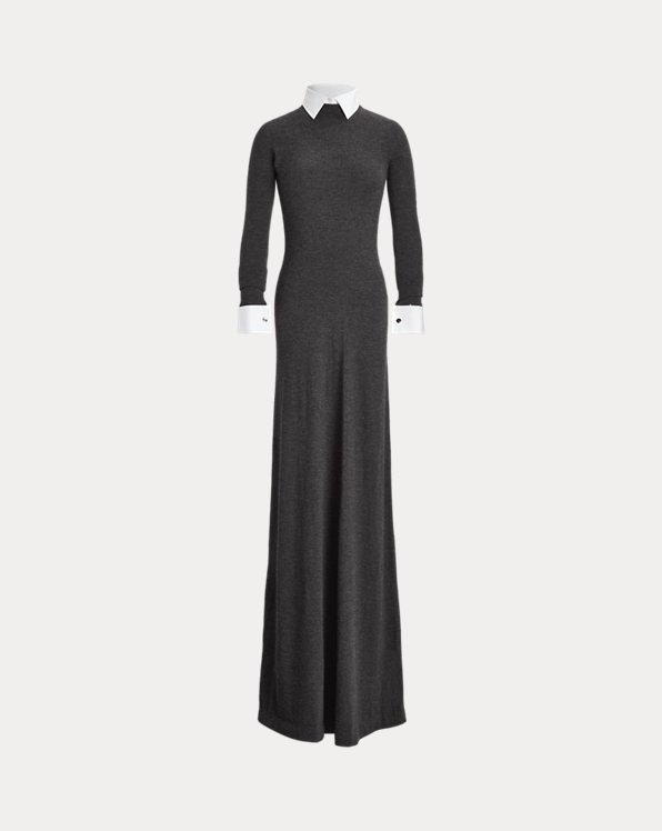 Worsted Wool Sweater Evening Dress