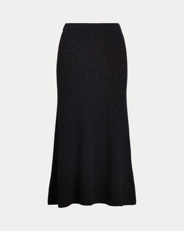 Ribbed Cashmere-Wool Jumper Skirt