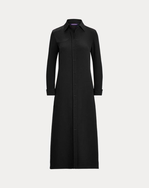 Aliyah Satin-Patch Silk Day Dress