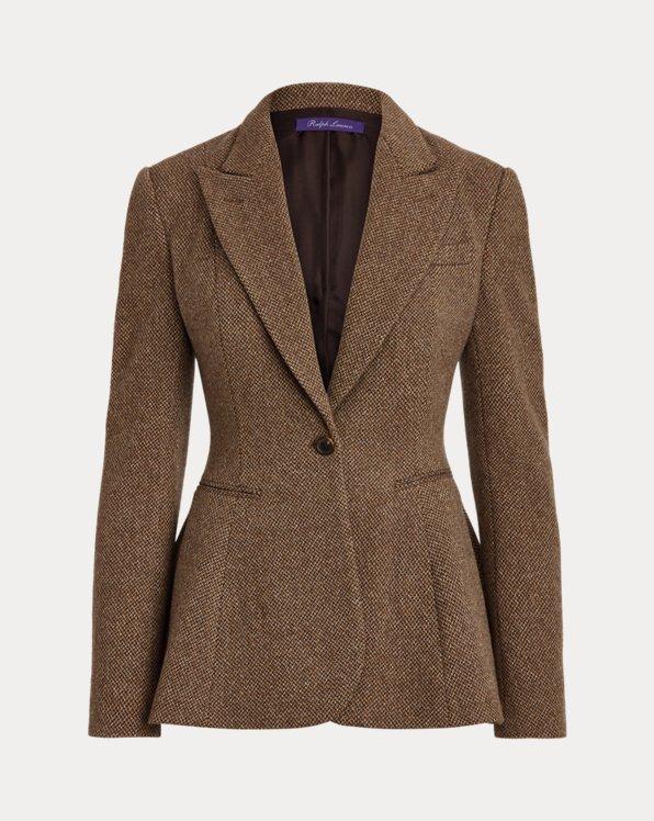 Arding Wool-Cashmere Tweed Jacket