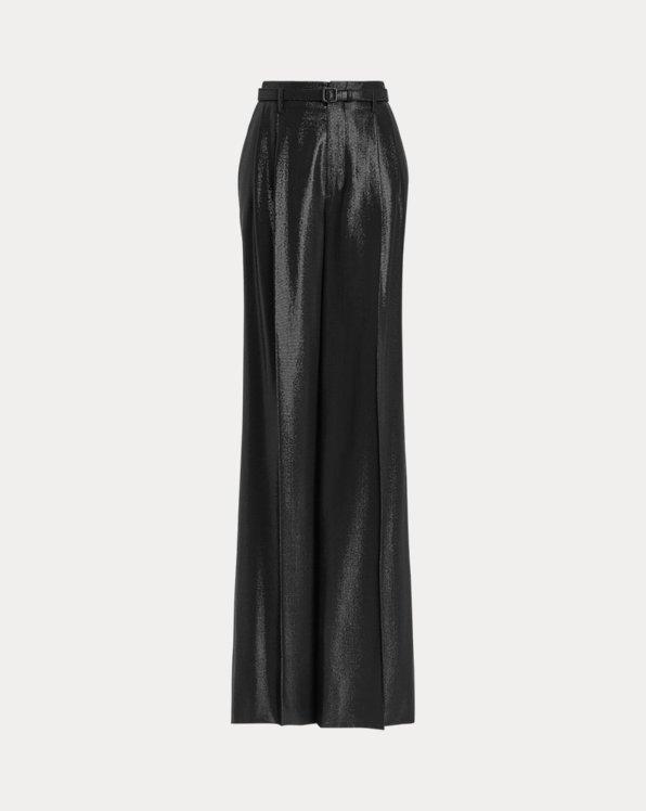Breanna Wool-Silk Jacquard Pant