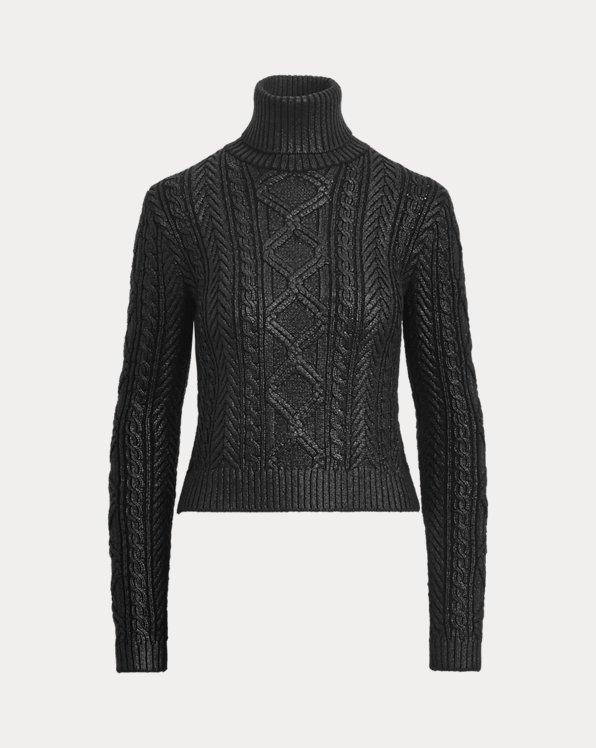 Pull en tricot d'Aran laqué