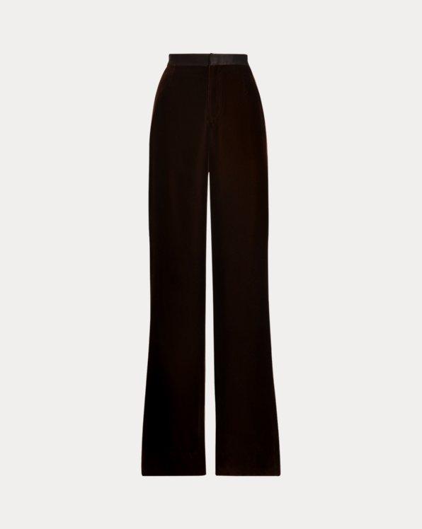 Daneila Velvet Wide-Leg Pant