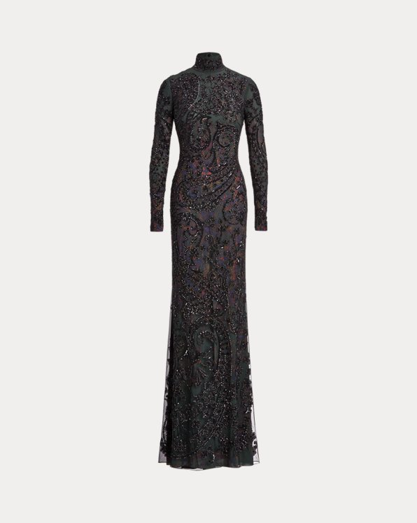 Rosalia Embellished Paisley Dress