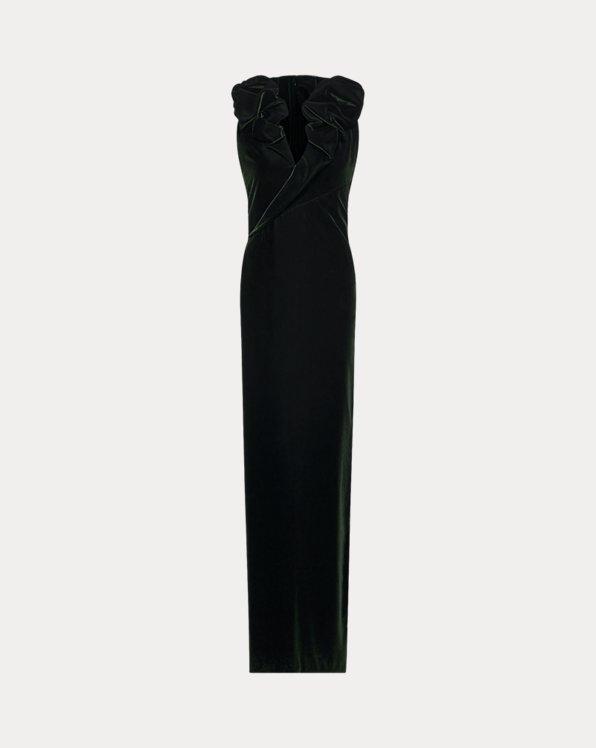 Amina Velvet Evening Dress