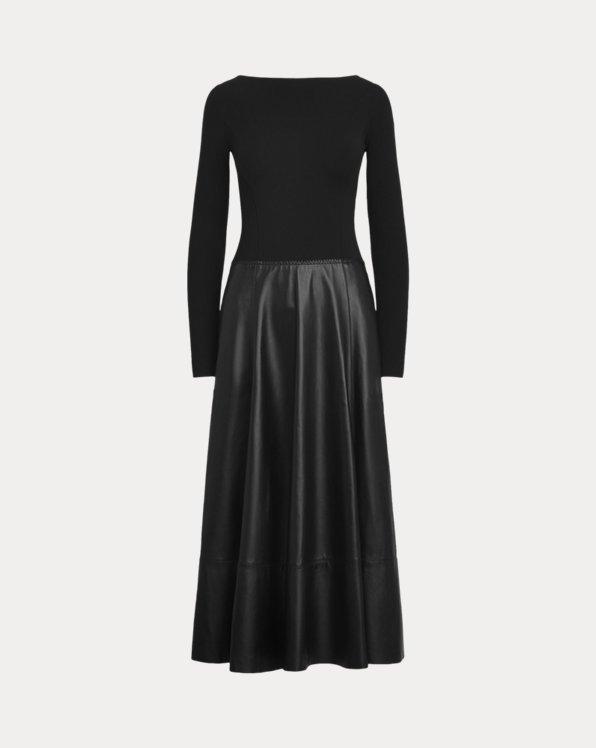 Genoveva Knit-Lambskin Day Dress