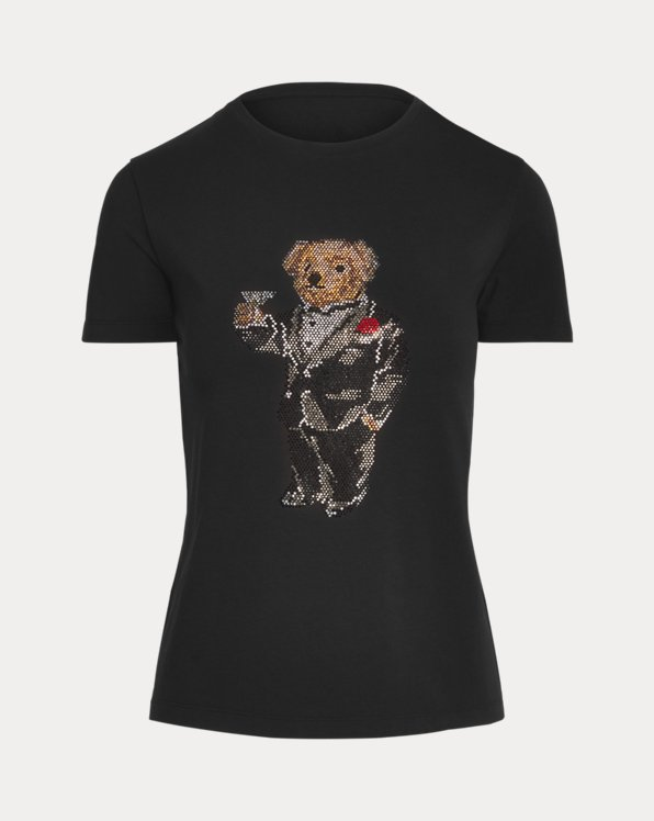 Martini Bear Cotton Tee