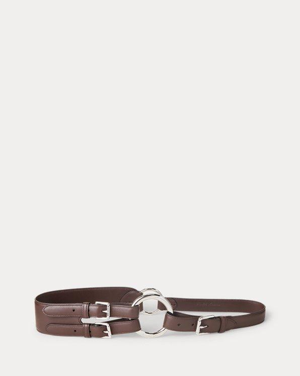 Tri-Strap O-Ring Calfskin Belt