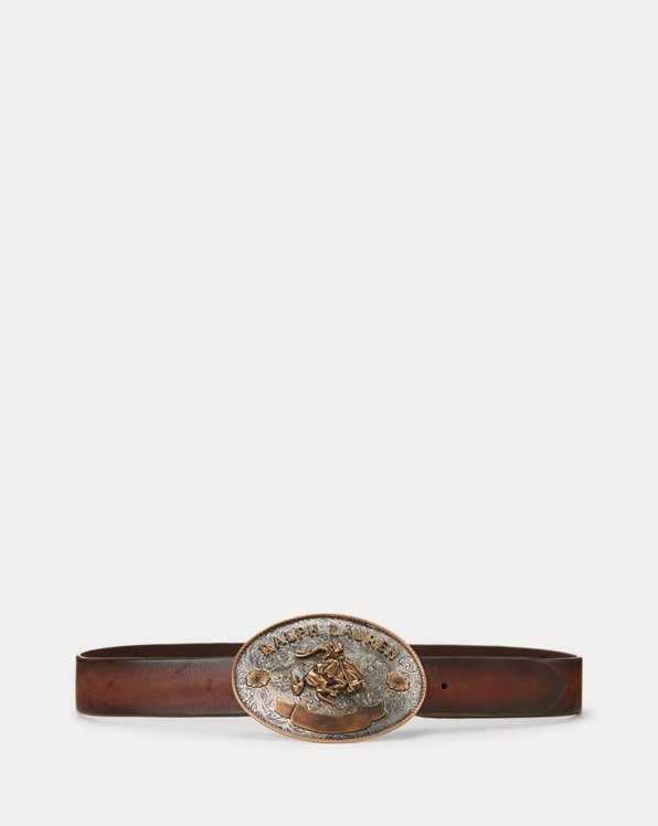 Rodeo Buckle Leather Belt