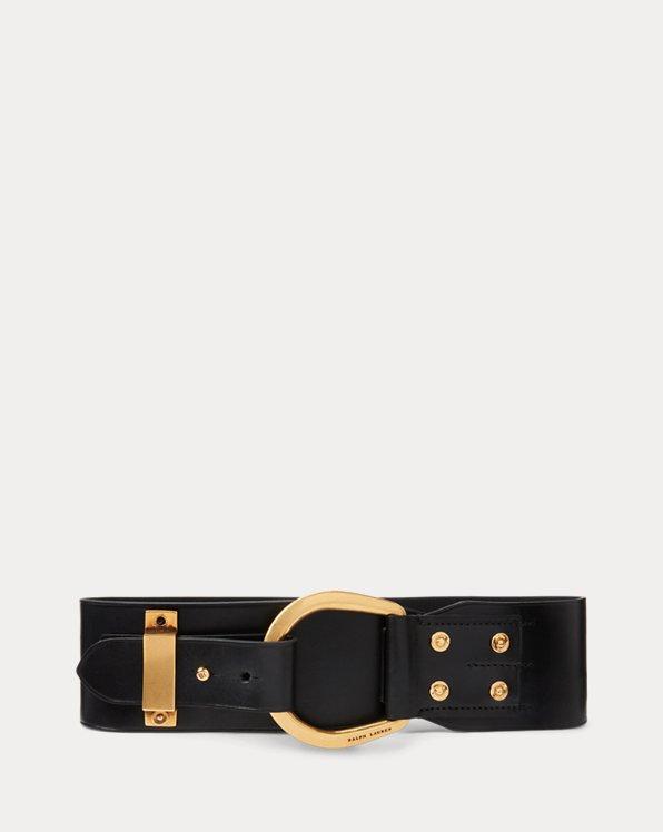 Horseshoe-Ring Leather Belt