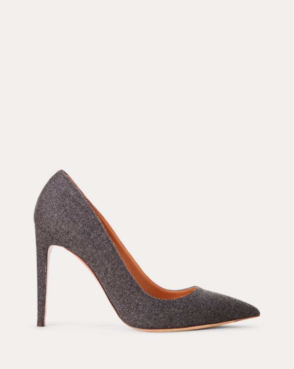 Celia Wool Flannel Pump