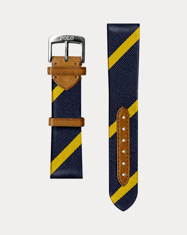 Bar-Stripe Silk Watch Strap