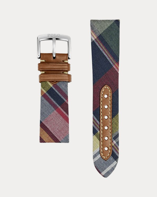 Madras Tie Silk Watch Strap