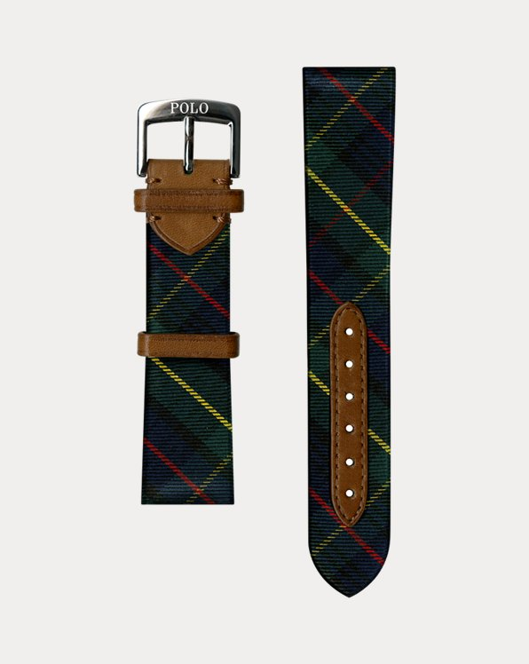 Tartan Tie Silk Watch Strap