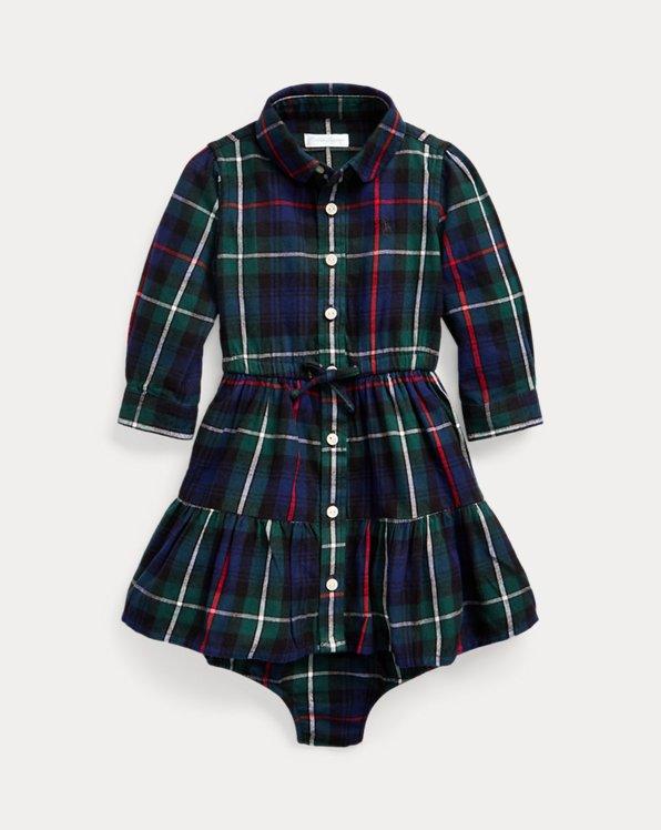 Plaid Cotton Shirtdress & Bloomer