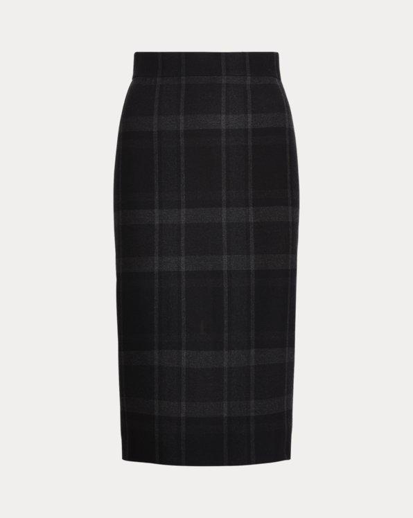 Alene Plaid Merino Wool A-Line Skirt