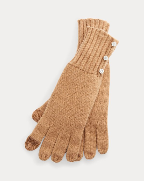 Button-Trim Tech Gloves
