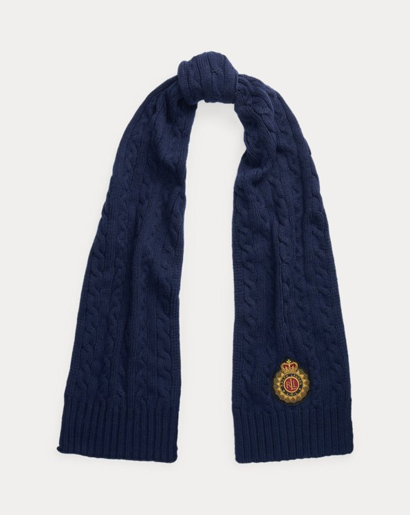 Embroidered Patch Scarf