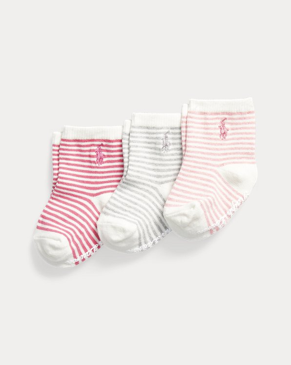 Striped Cotton-Blend Crew Sock 3-Pack