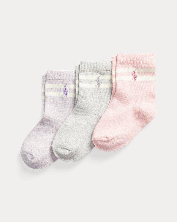 3er-Pack melierte Crew-Socken