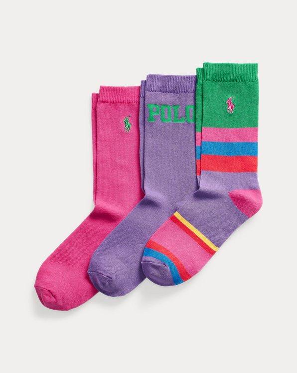 3er-Pack Crew-Socken mit Flagge