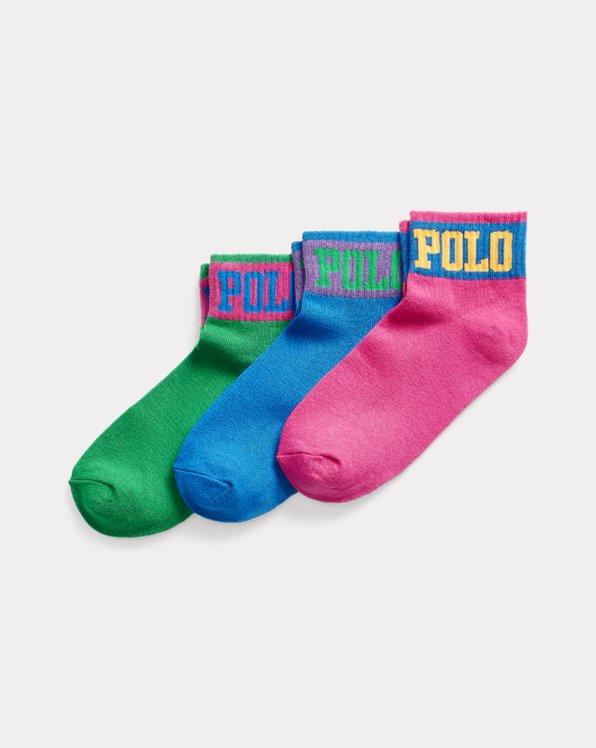 3er-Pack Polo-Crew-Socken