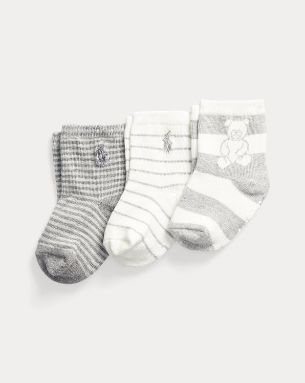 3er-Pack Socken mit Polo Bear