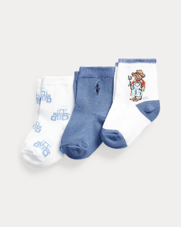 3er-Pack Crew-Socken mit Polo Bear