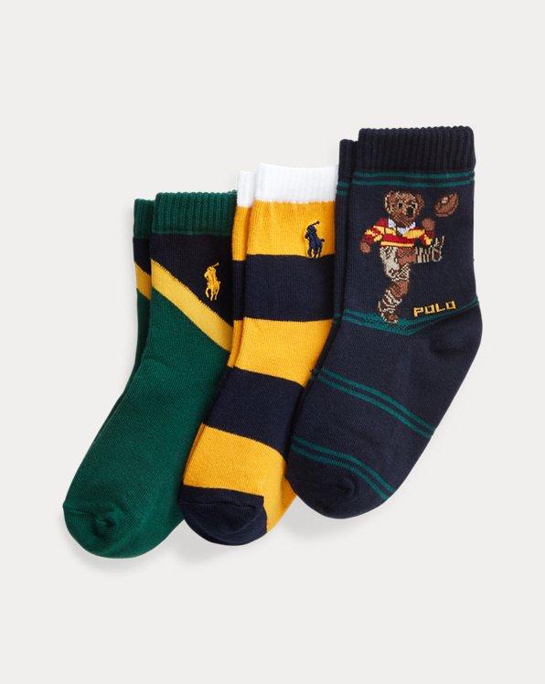 Polo Bear Crew Sock 3-Pack