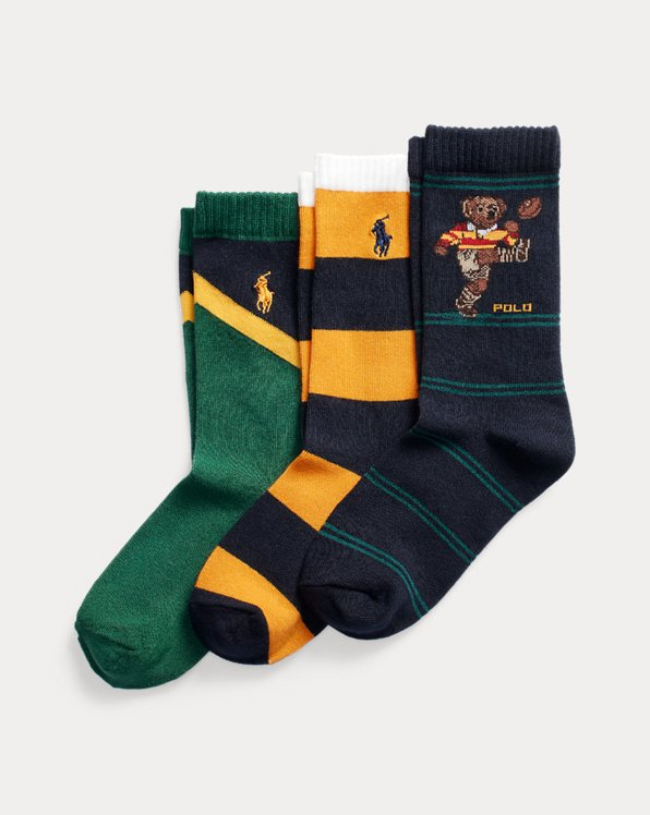 Polo Bear Crew Sock 3-Pack
