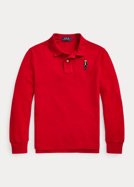 Polo RalphLauren Moto Bear Cotton Mesh Polo Shirt