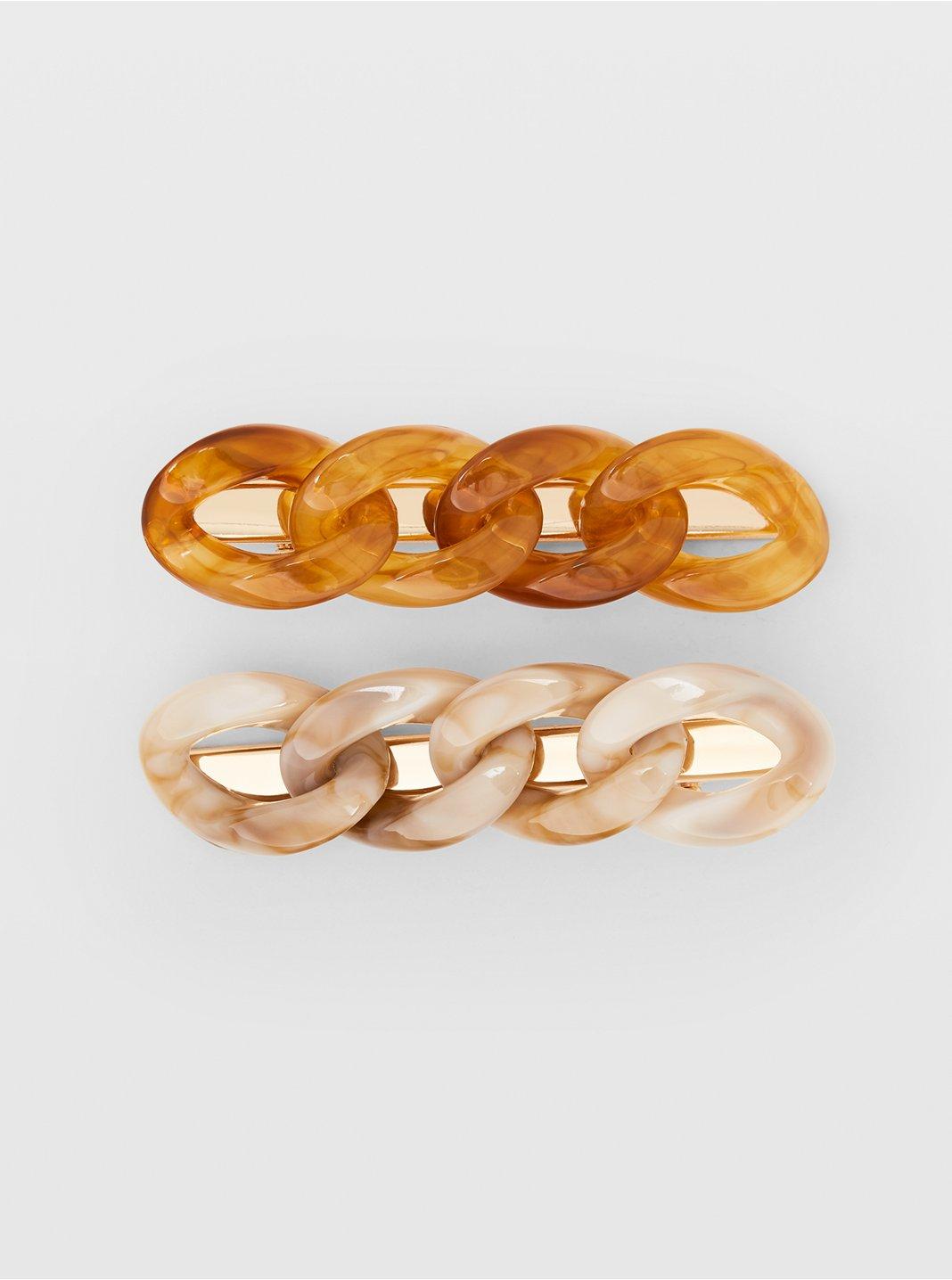 Marbled Link Clip Set
