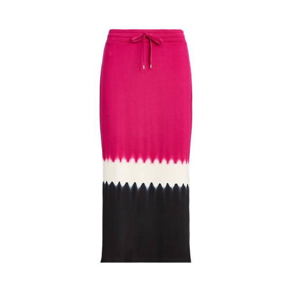 폴로 랄프로렌 Polo Ralph Lauren French Terry Straight Skirt,Bright Fuchsia Multi