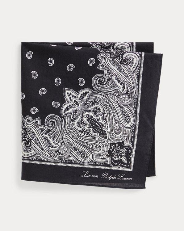 Bandana en coton motif cachemire