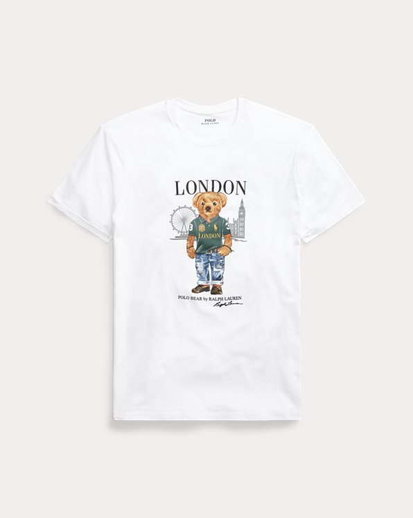 Custom Slim Fit London Bear T-Shirt
