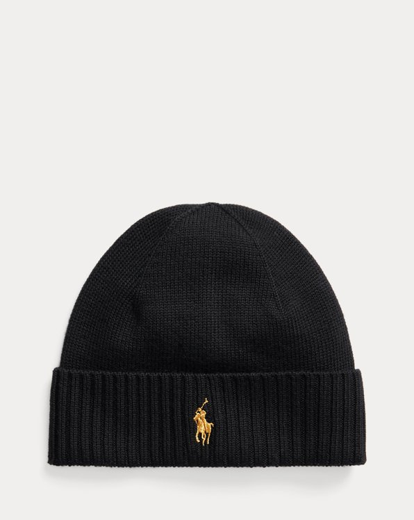 Ribbed-Cuff Wool Hat