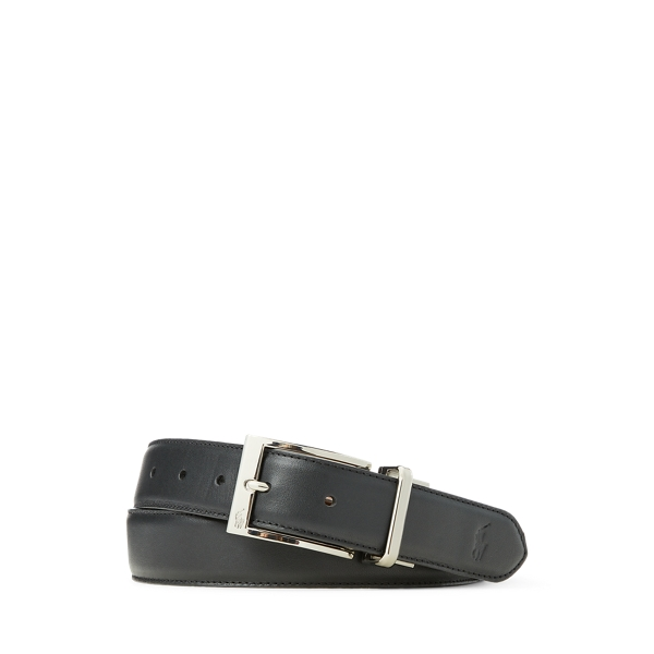 폴로 랄프로렌 Polo Ralph Lauren Reversible Leather Dress Belt,Black/Brown