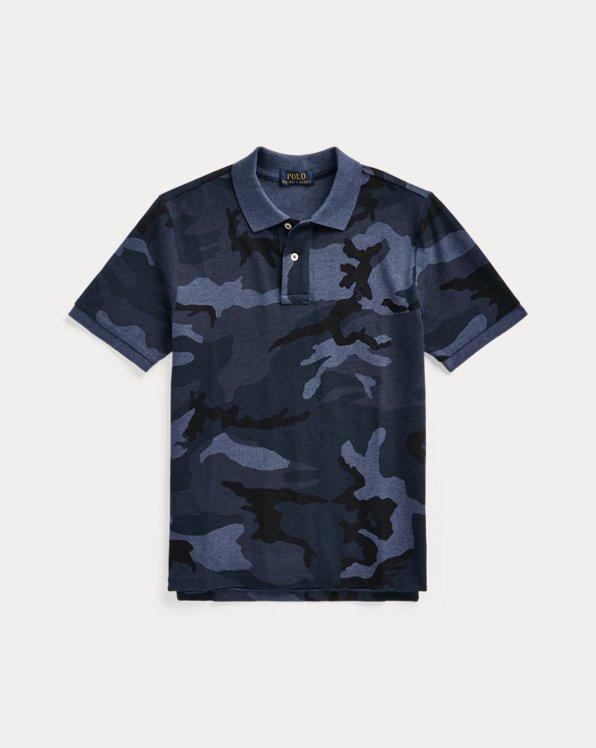 Camo Cotton Mesh Polo Shirt