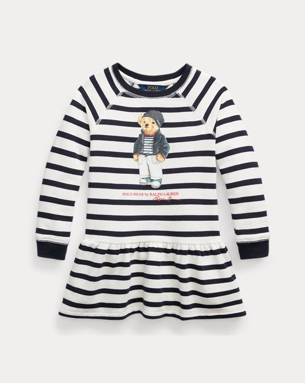 Polo Bear Cotton Fleece Dress