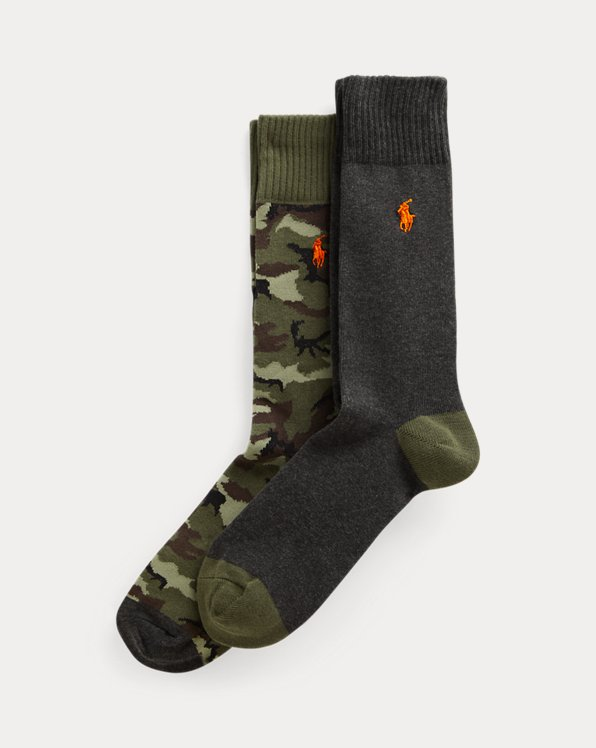 Camo & Solid Trouser Sock 2-Pack