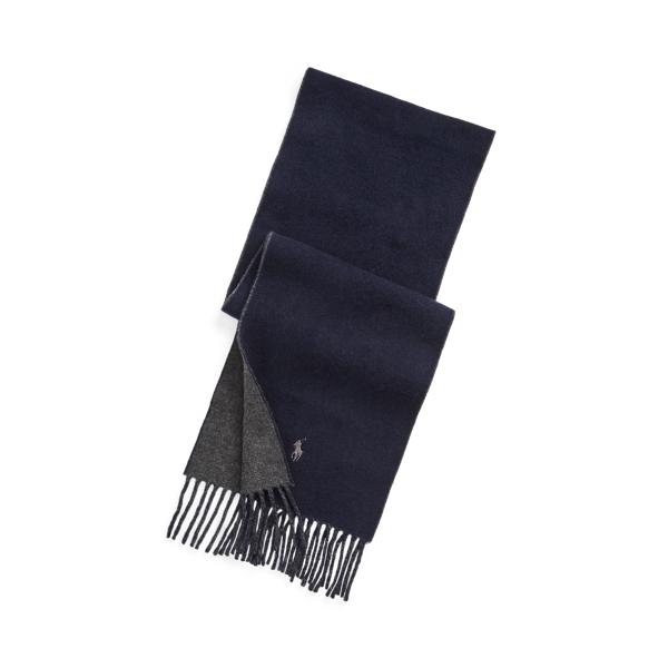 폴로 랄프로렌 리버서블 울 혼방 머플러 - 네이비/차콜 (남녀공용) Polo Ralph Lauren Reversible Wool-Blend Scarf 559496