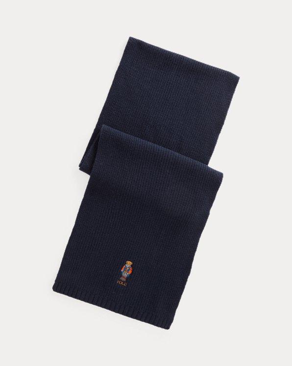 Polo Bear Merino-Wool-Blend Scarf