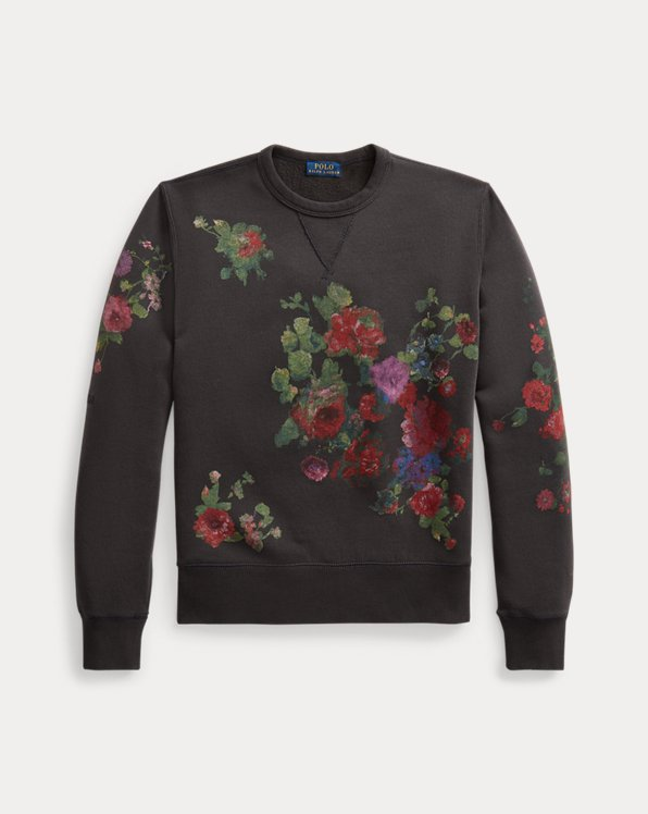 Sweat graphique en molleton fleuri