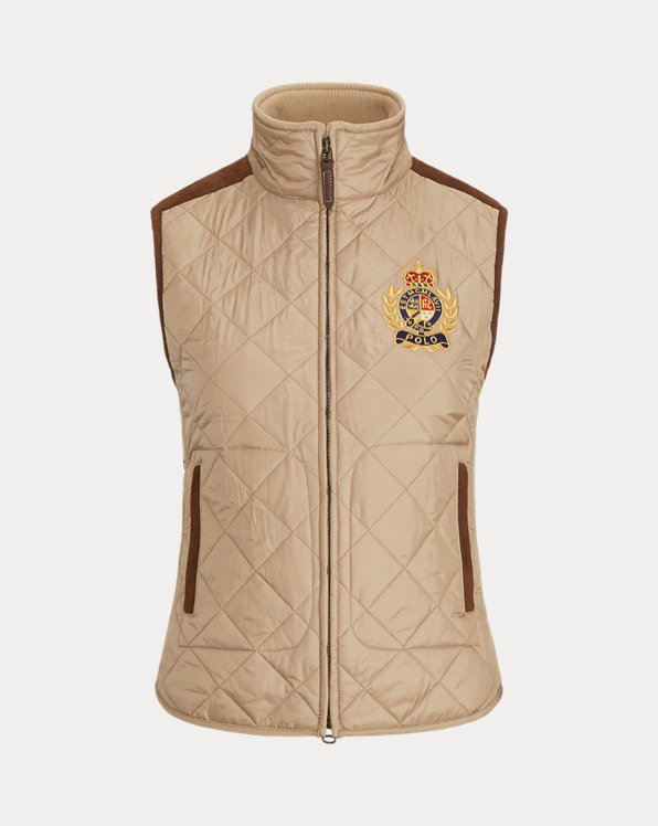 Quilted Crest-Patch Gilet