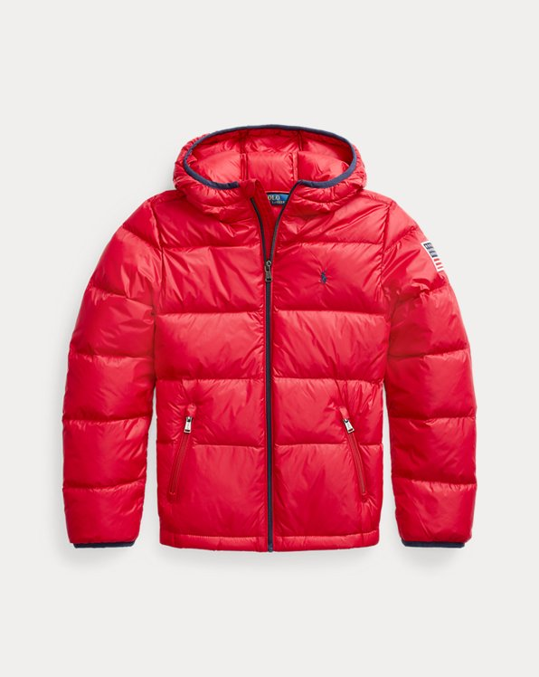 Packable Down-Blend Hooded Jacket