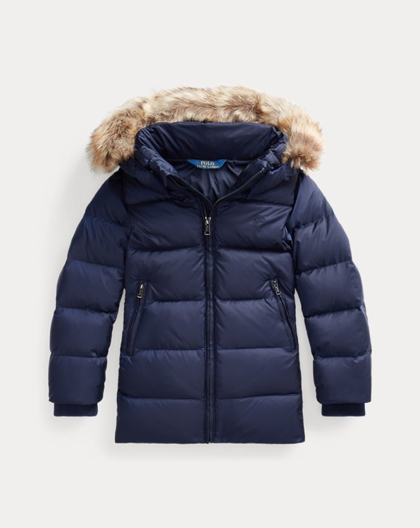 Faux-Fur Quilted Down Jacket
