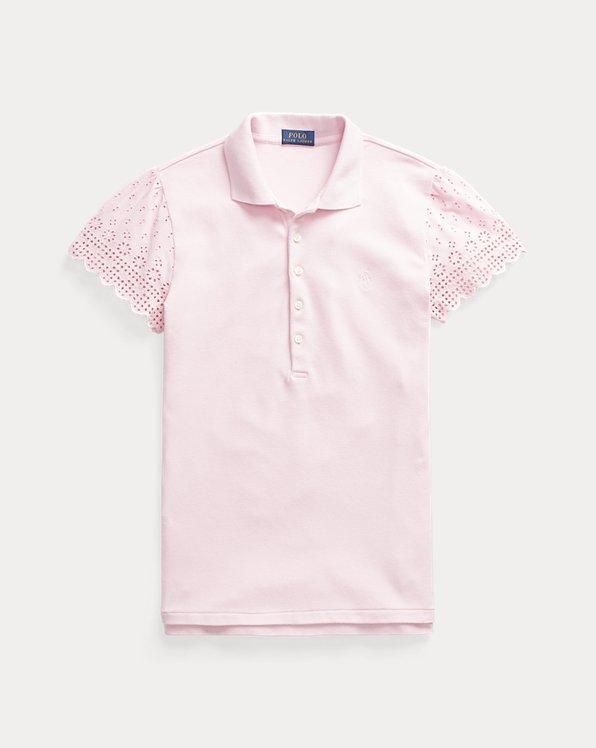 Slim Fit Eyelet Polo Shirt