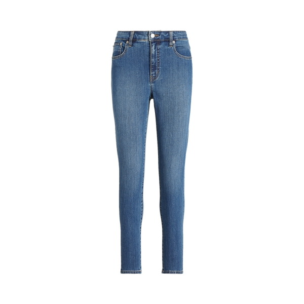 로렌 랄프로렌 청바지 Polo Ralph Lauren High-Rise Skinny Ankle Jean,Ocean Blue Wash