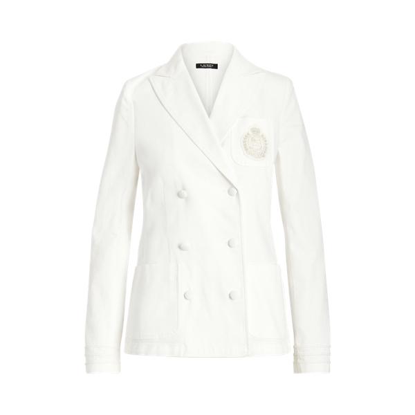 로렌 랄프로렌 자켓 Polo Ralph Lauren Stretch Cotton Canvas Jacket,White